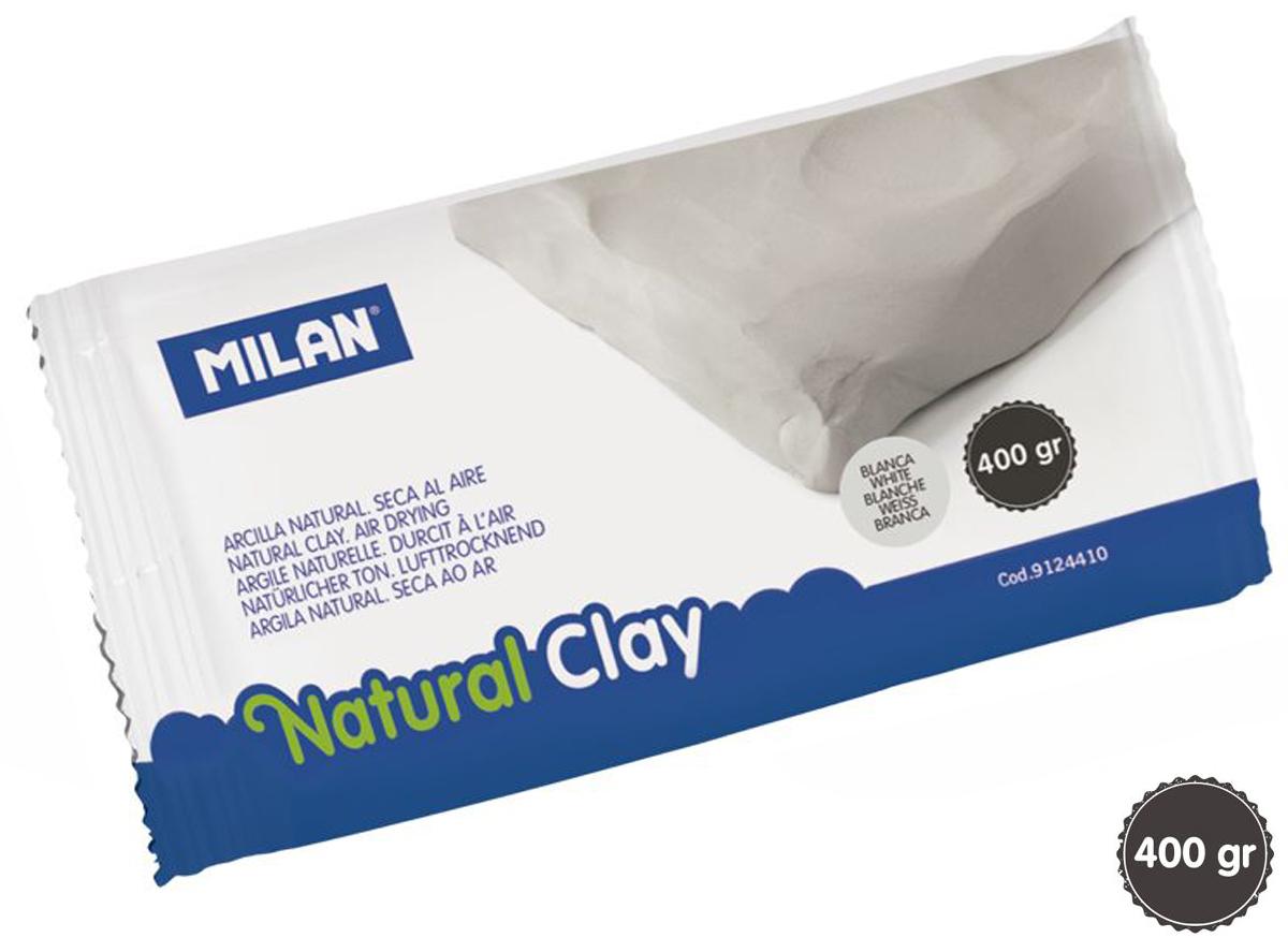 Glina naturalna do modelowania Milan samoutwardzalna lub do wypalania 400 g biała