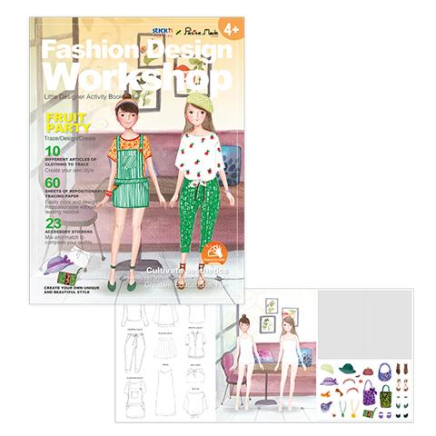 Książka do zabawy zaprojektuj strój owocowe przyjęcie