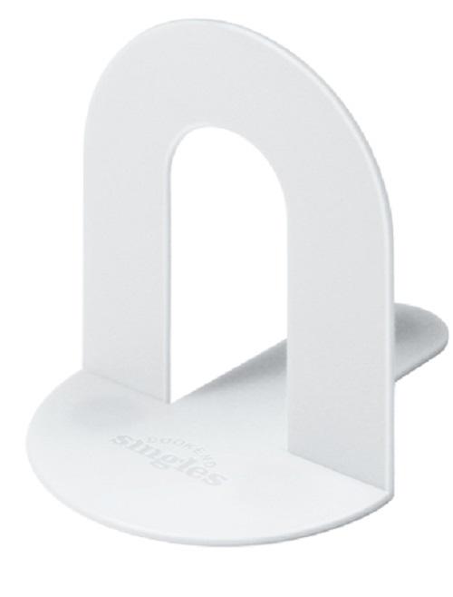 Book End - podpórka pod książki - biała