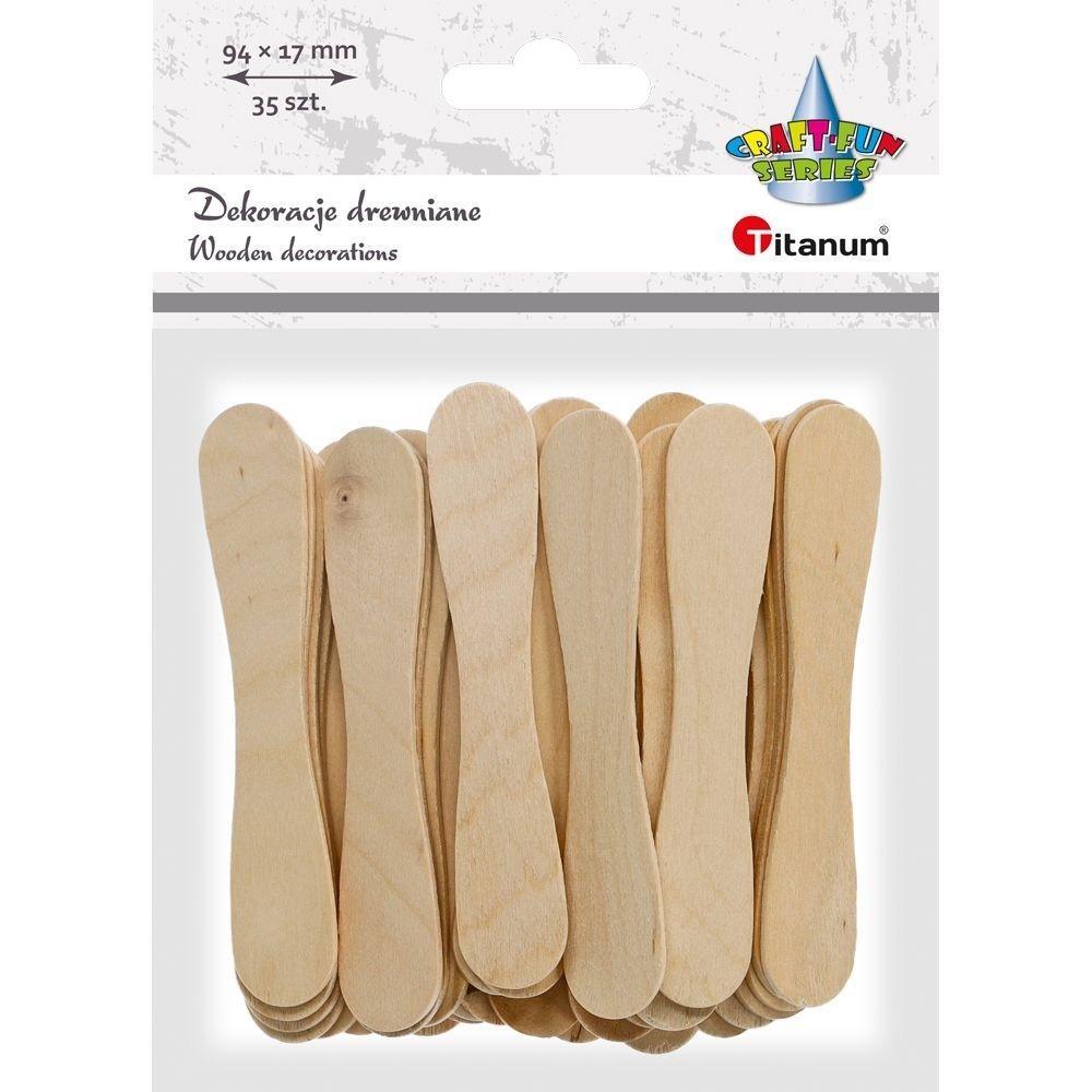 Drewniane patyczki łyżeczki