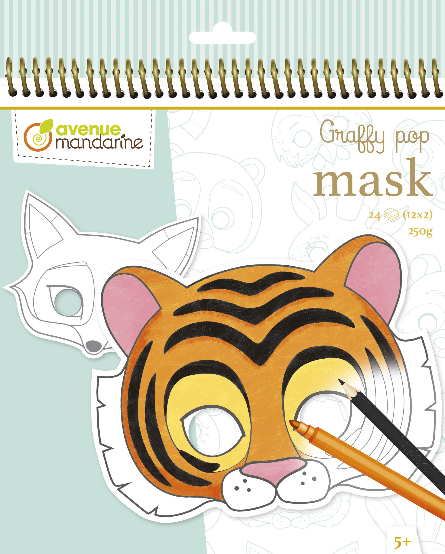 Blok z maskami Graffy Pop Mask Zwierzęta