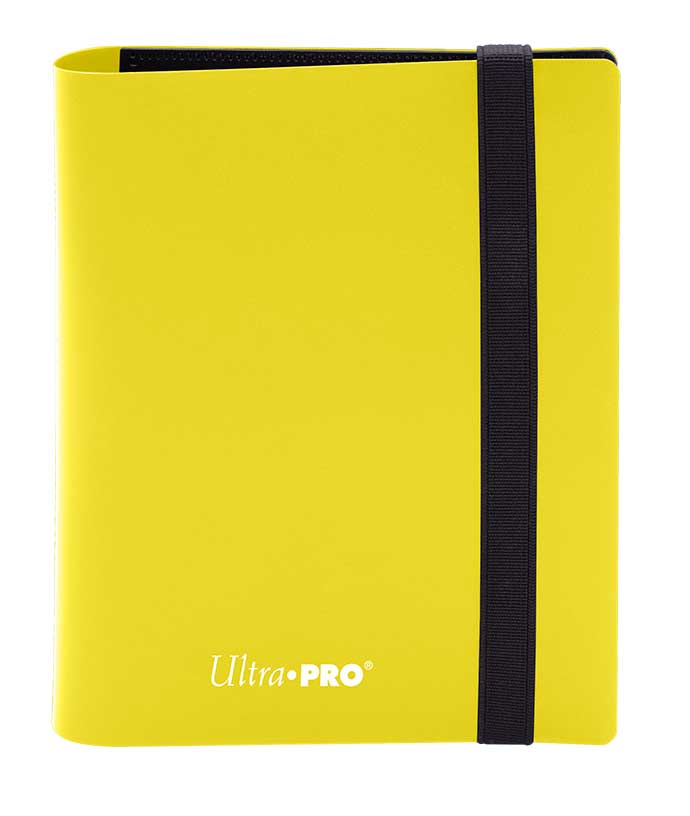 Ultra Pro: 4-Pocket Pro-Binder Eclipse - Lemon Yellow