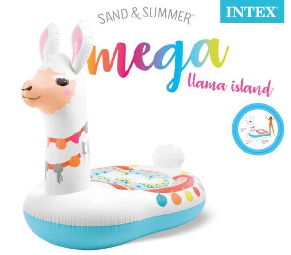 PROMO Materac wyspa mega Llama w pudełku 201cmx147cmx173cm  57294EU INTEX