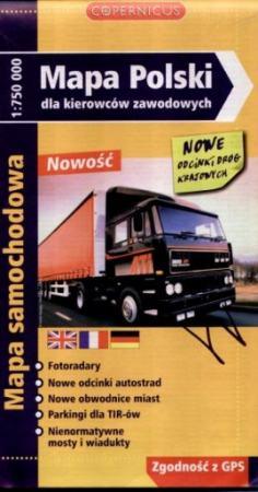 Mapa Polski dla kierowców zawodowych