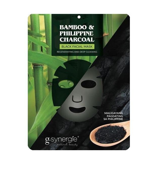 Black Facial Mask maseczka do twarzy w płachcie Bambus & Filipiński Węgiel Drzewny