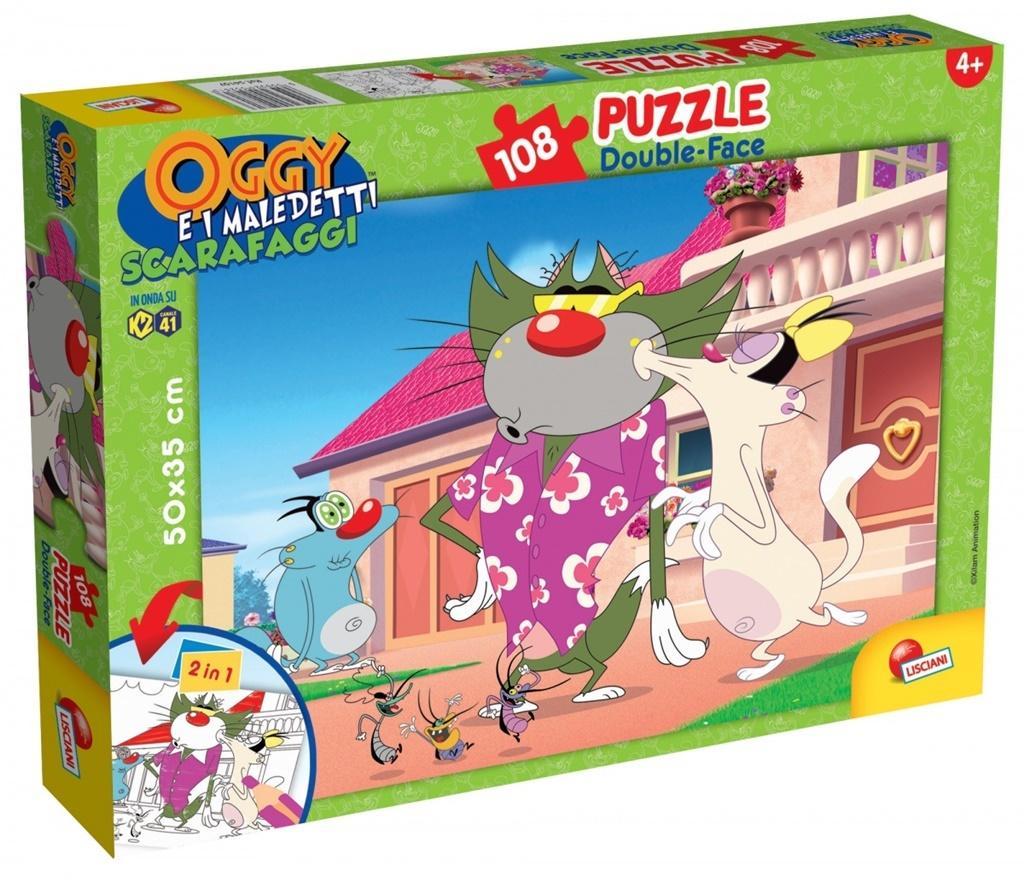 Puzzle dwustronne 108 el. Oggy i karaluchy