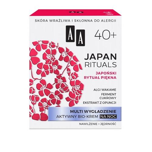 Multi wygładzenie aktywny bio-krem do twarzy Japan Rituals 40+