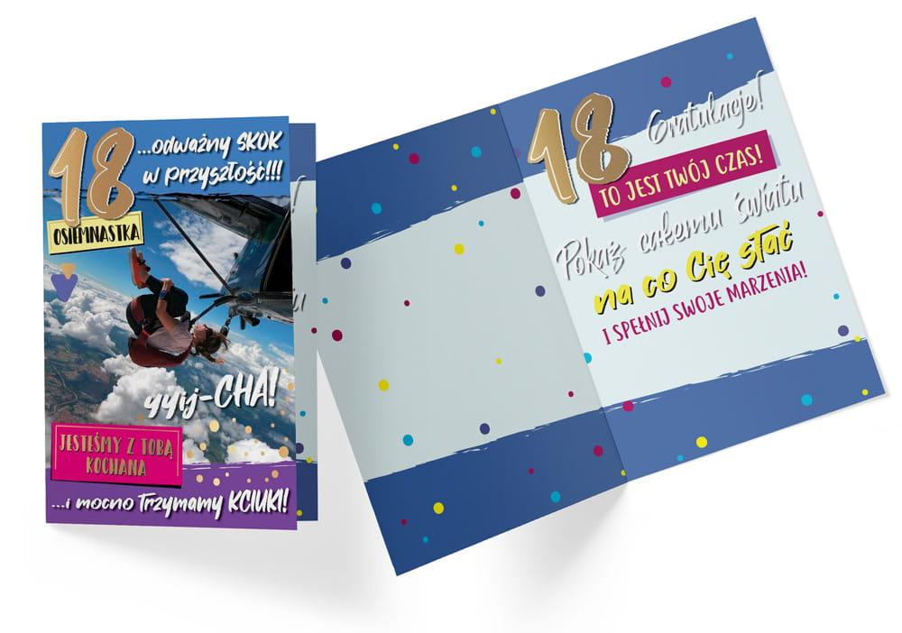 Karnet B6 PP-2188 Urodziny 18 power