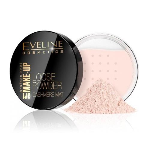 EVELINE_Art Make-Up Loose Powder Cashmere Mat matujący puder sypki 02 Beige