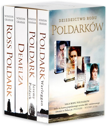 Poldark. Tomy 1-4 (Ross Poldark, Demelza, Jeremy Poldark, Warleggan)