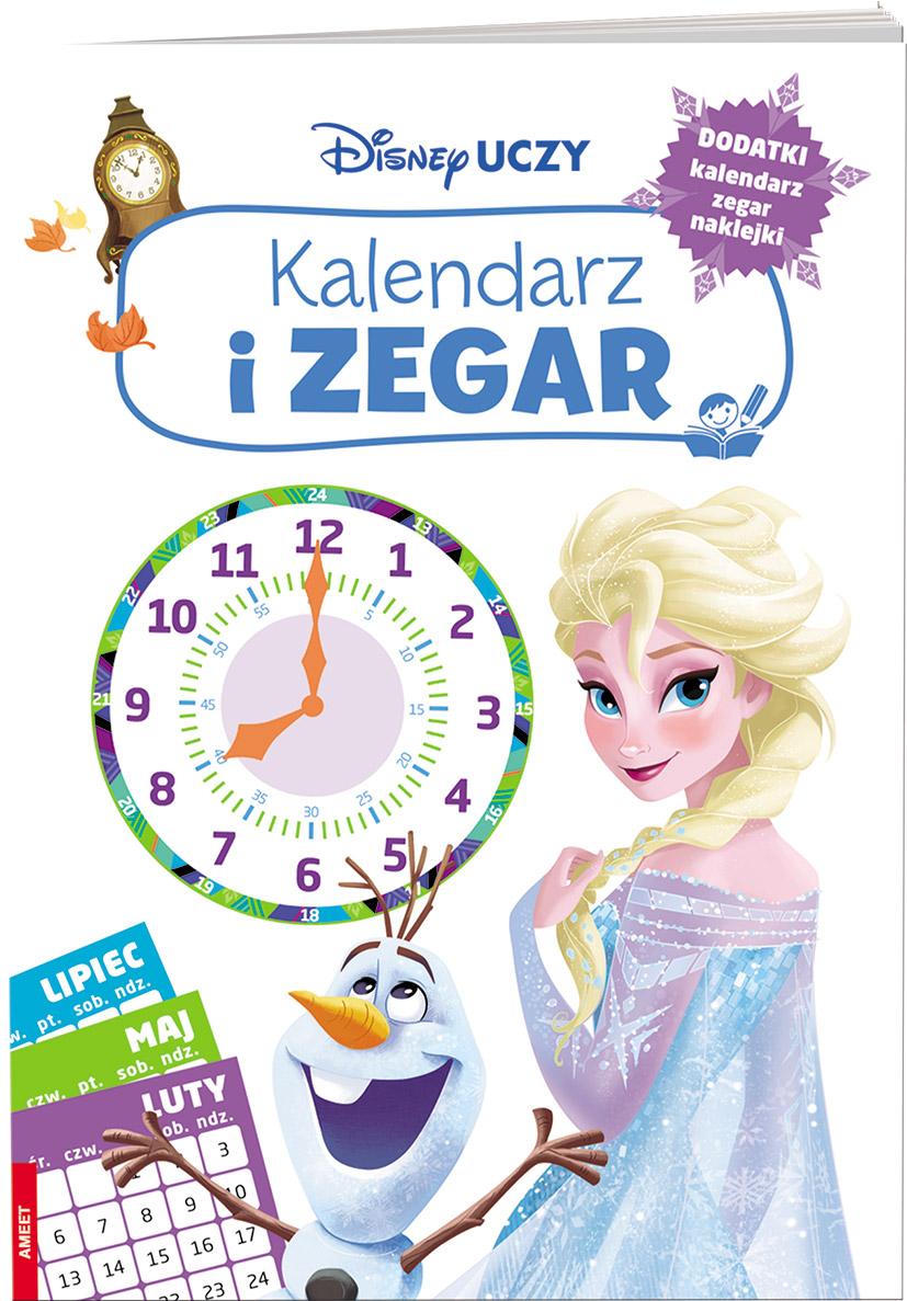 Disney uczy kraina lodu Kalendarz i zegar ZEG-9301