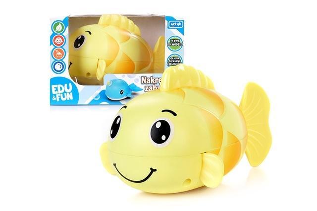 Zabawka nakręcana do kąpieli żółta rybka Edu&Fun