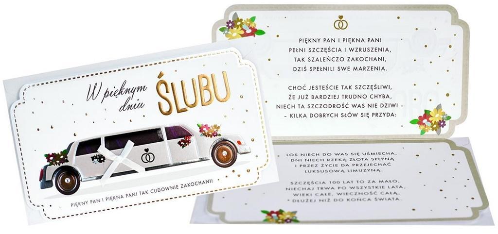 Karnet PM-178 Ślub