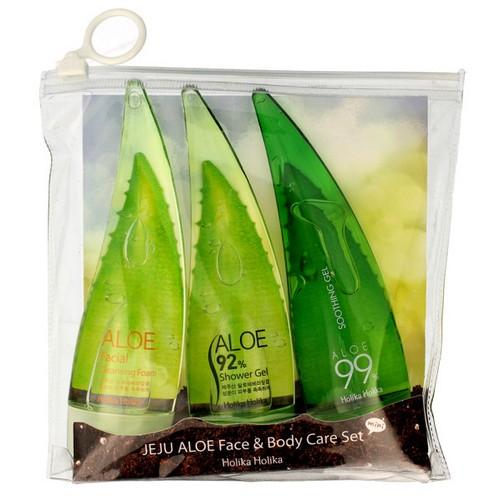 Aloe 99% zestaw : żel+pianka+żel pod prysznic