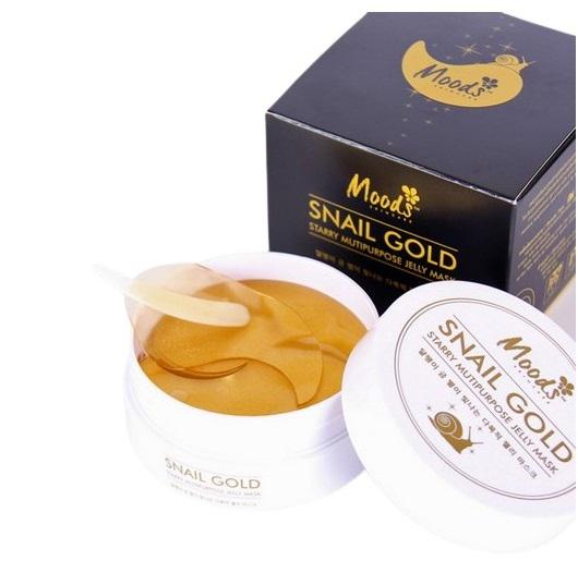Regeneracyjne płatki żelowe pod oczy, złoto ze śluzem ślimaka Snail Gold