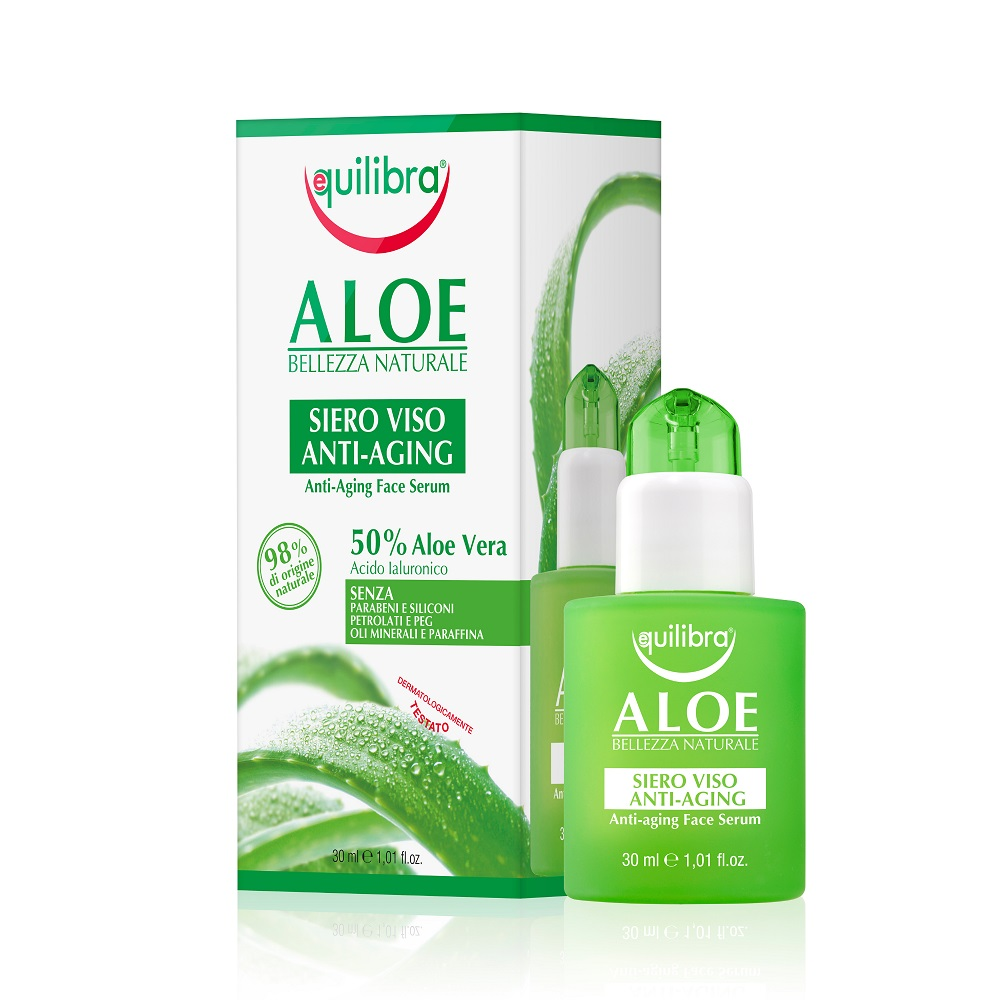 Aloe Bellezza Naturale Anti-Aging Face Serum aloesowe przeciwstarzeniowe serum do twarzy z kwasem hialuronowym Aloe Vera