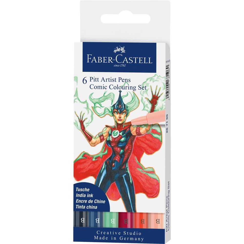 Zestaw do rysowania komiksów Faber-Castell Pit Artist Pen The Famazings Mother 6 sztuk