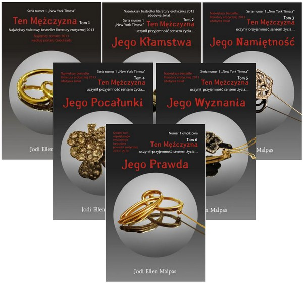 Zestaw 6 książek z serii Ten mężczyzna. Tom 1-6 - Malpas Jodi Ellen