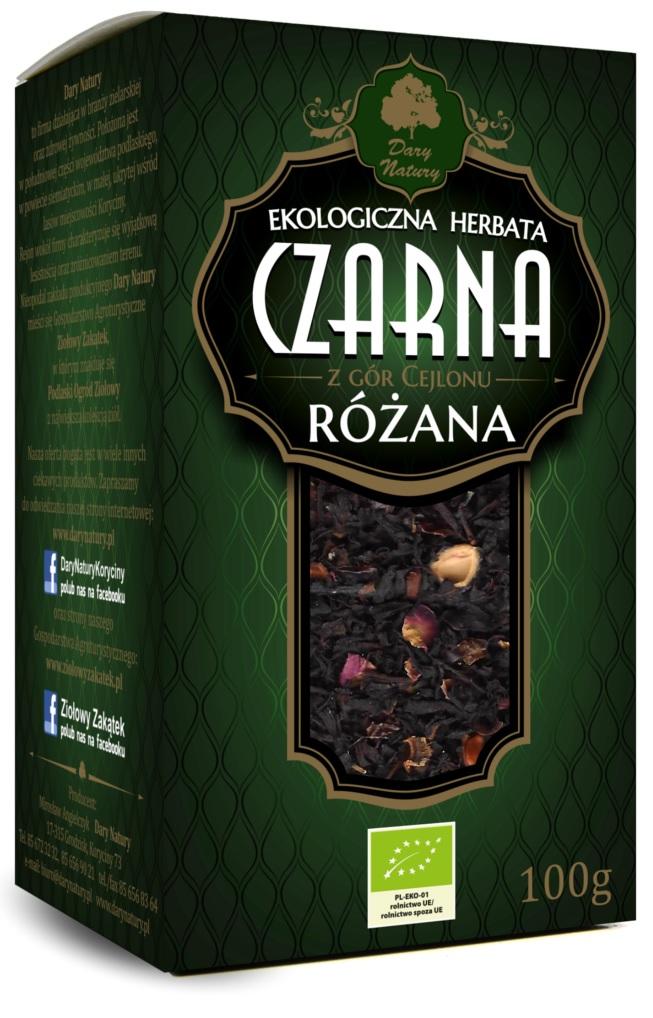 Herbata czarna różana liściasta