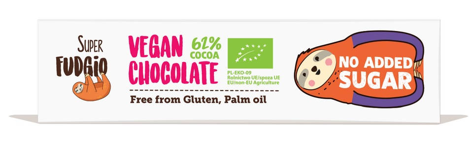 Czekoladowy baton o smaku kokosowym bez dodatku cukru