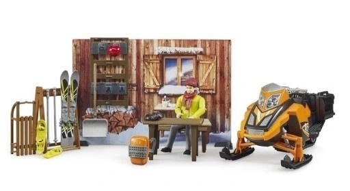 Zimowy domek + skuter śnieżny + akcesoria