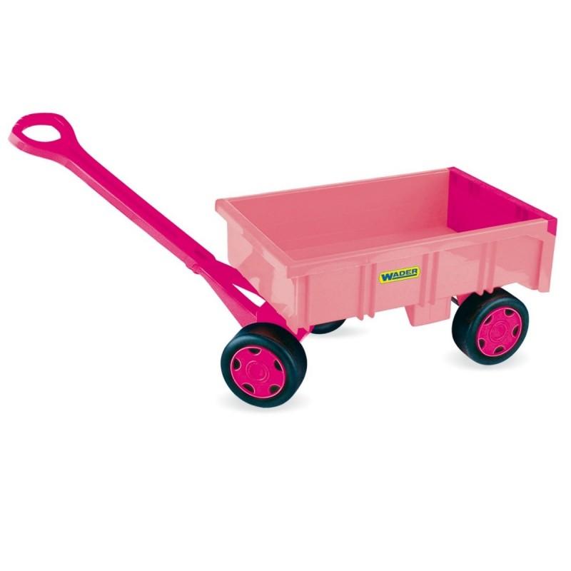 Wózek przyczepa 95 cm Gigant różowa luzem