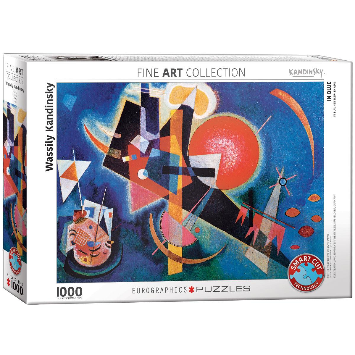 Puzzle 1000 el. W kolorze niebieskim, Wassily Kandinsky