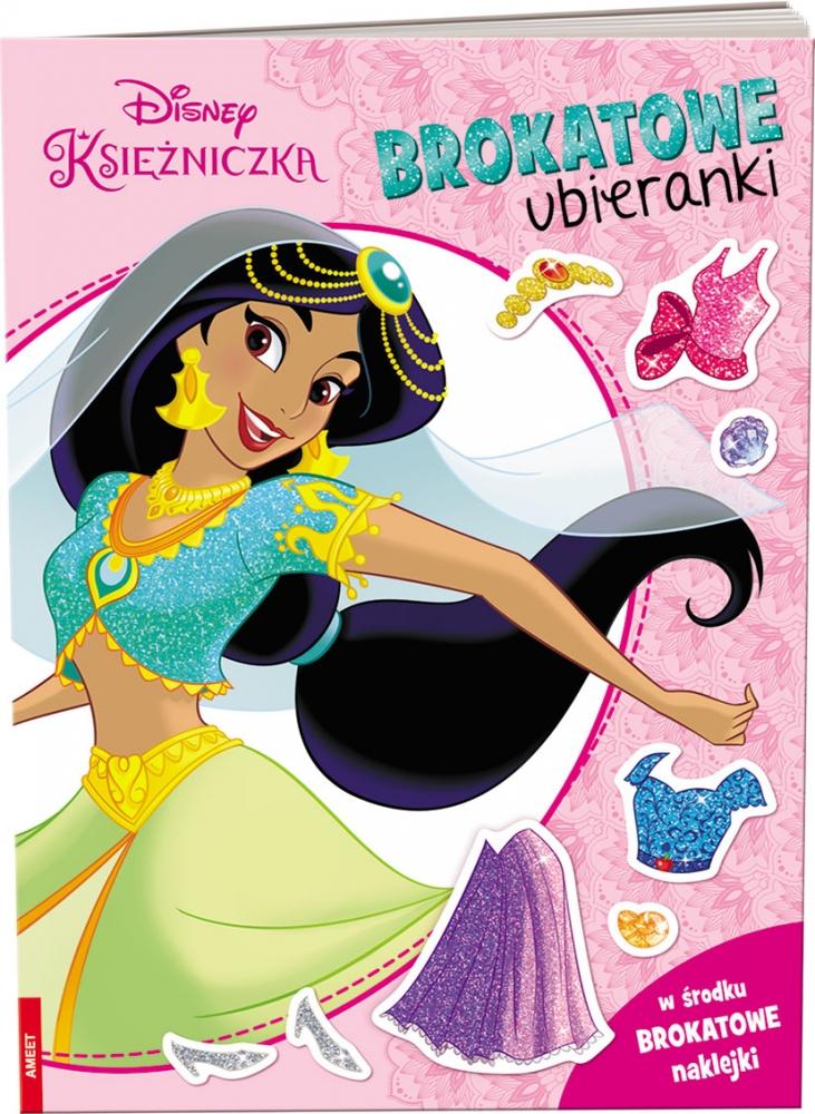Disney księżniczka. Brokatowe ubieranki