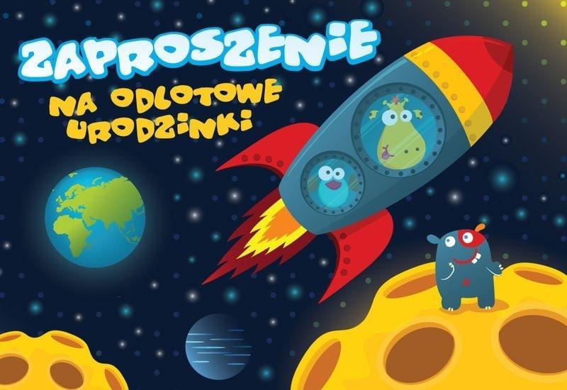 Zaproszenie ZZ-027 Urodziny kosmos (5 szt.)