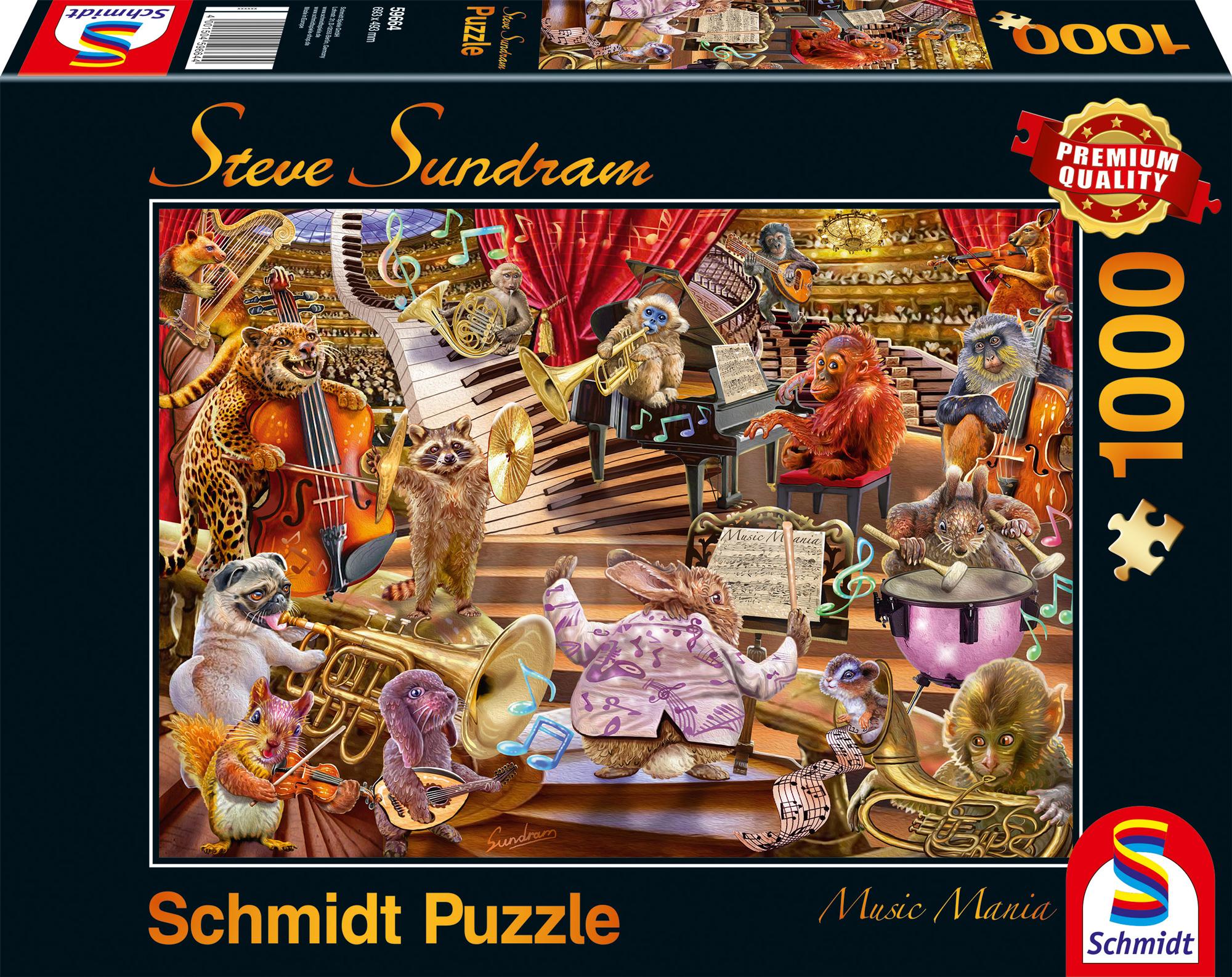Puzzle 1000 el. Koncert zwierzaków