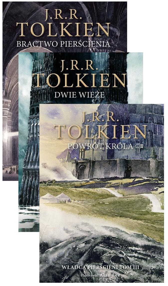 Pakiet Władca Pierścieni. Tom 1-3: Bractwo pierścienia, Dwie wieże, Powrót króla. Wersja ilustrowana