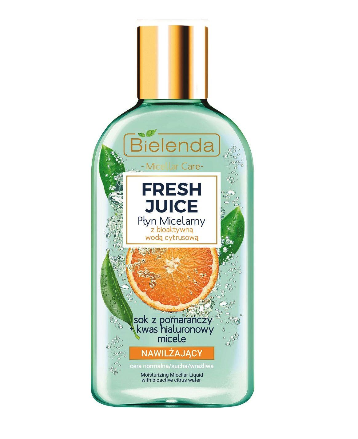 Fresh Juice płyn micelarny nawilżający z wodą cytrusową Pomarańcza