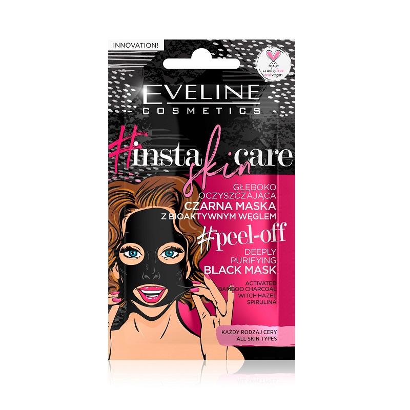 Insta Skin Care czarna maska głęboko oczyszczająca peel-off