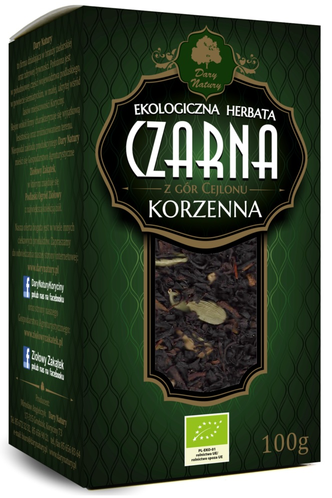 Herbata czarna korzenna liściasta