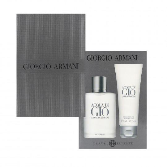 Zestaw dla mężczyzn Acqua di Gio Pour Homme woda toaletowa + balsam po goleniu
