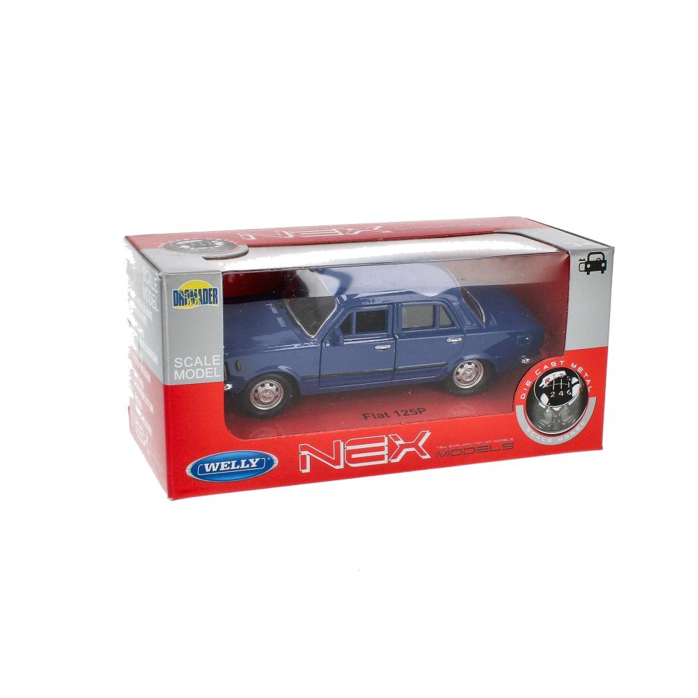 Auto osobowe metalowe 15x7x7 Fiat 125P WPT1313 WB DROMADER FIAT 125P