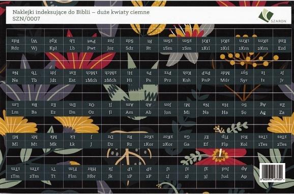 Naklejki indeksujące do Biblii - duże kwiaty