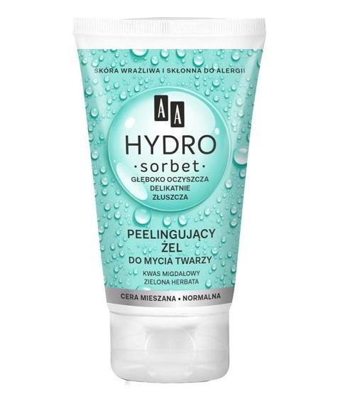Peelingujący żel do mycia twarzy Hydro Sorbet