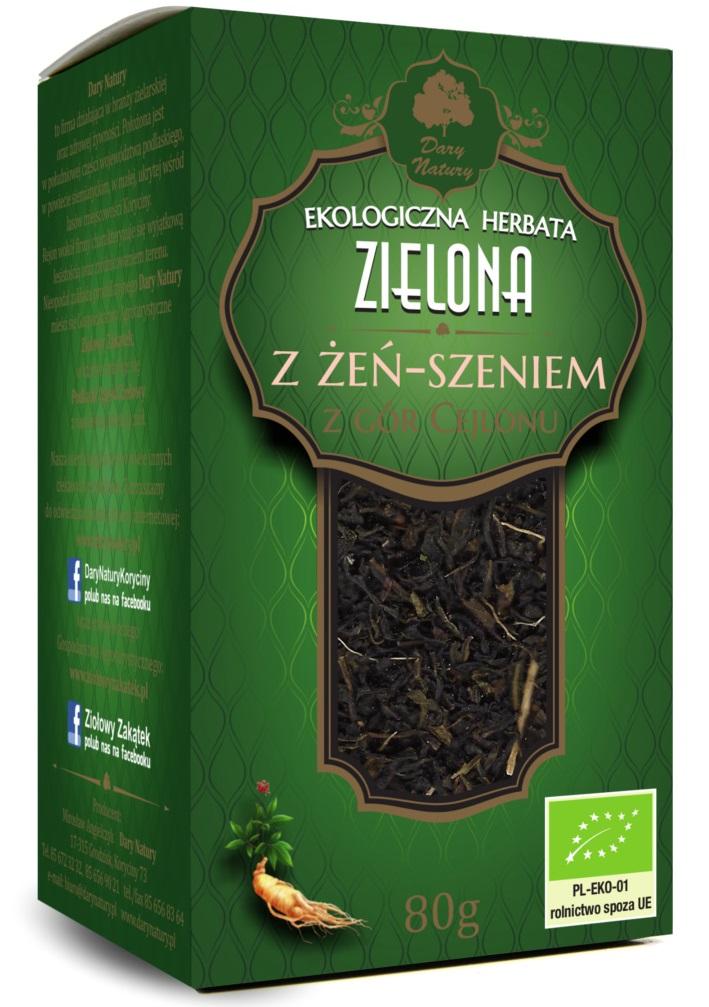 Herbata zielona z żeń-szeniem