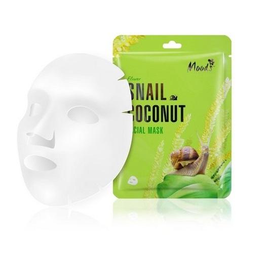 Maska w płachcie ze śluzem ślimaka i ekstraktem z kokosa dla cery suchej Snail Coconut