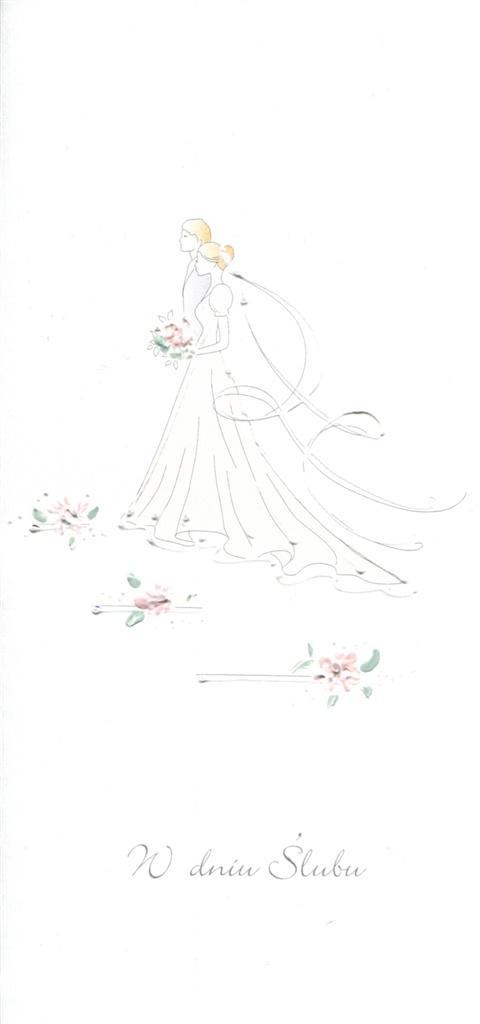 Karnet Ślub DL S30 - W Dniu Ślubu Para Młoda
