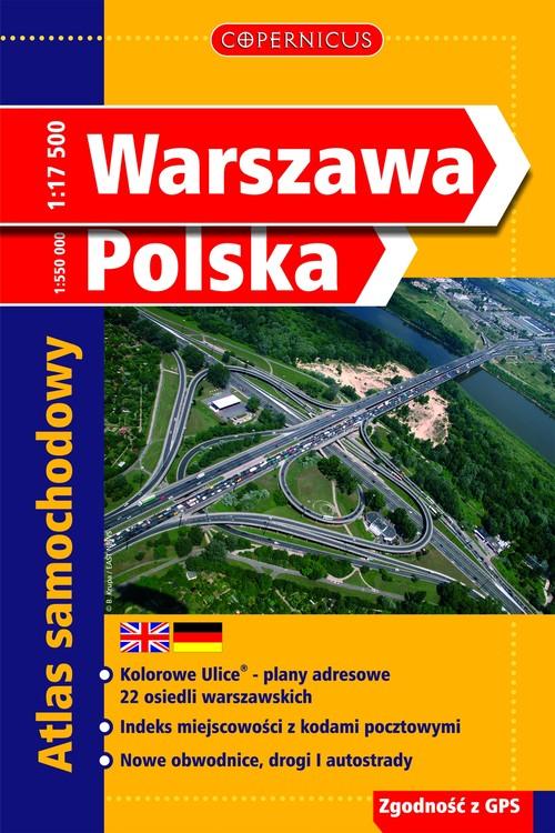 Warszawa Polska Atlas samochodowy