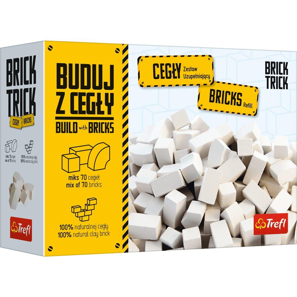 Brick Trick. Refil Cegły zamkowe białe. 70 sztuk