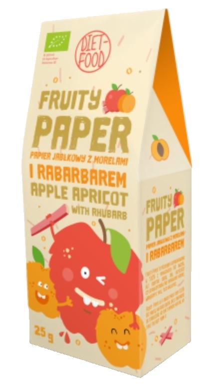 Papier owocowy - jabłko + morela + rabarbar