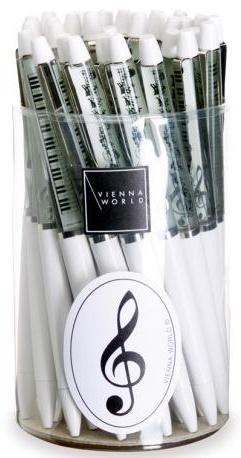 Długopis biały - klawiatura