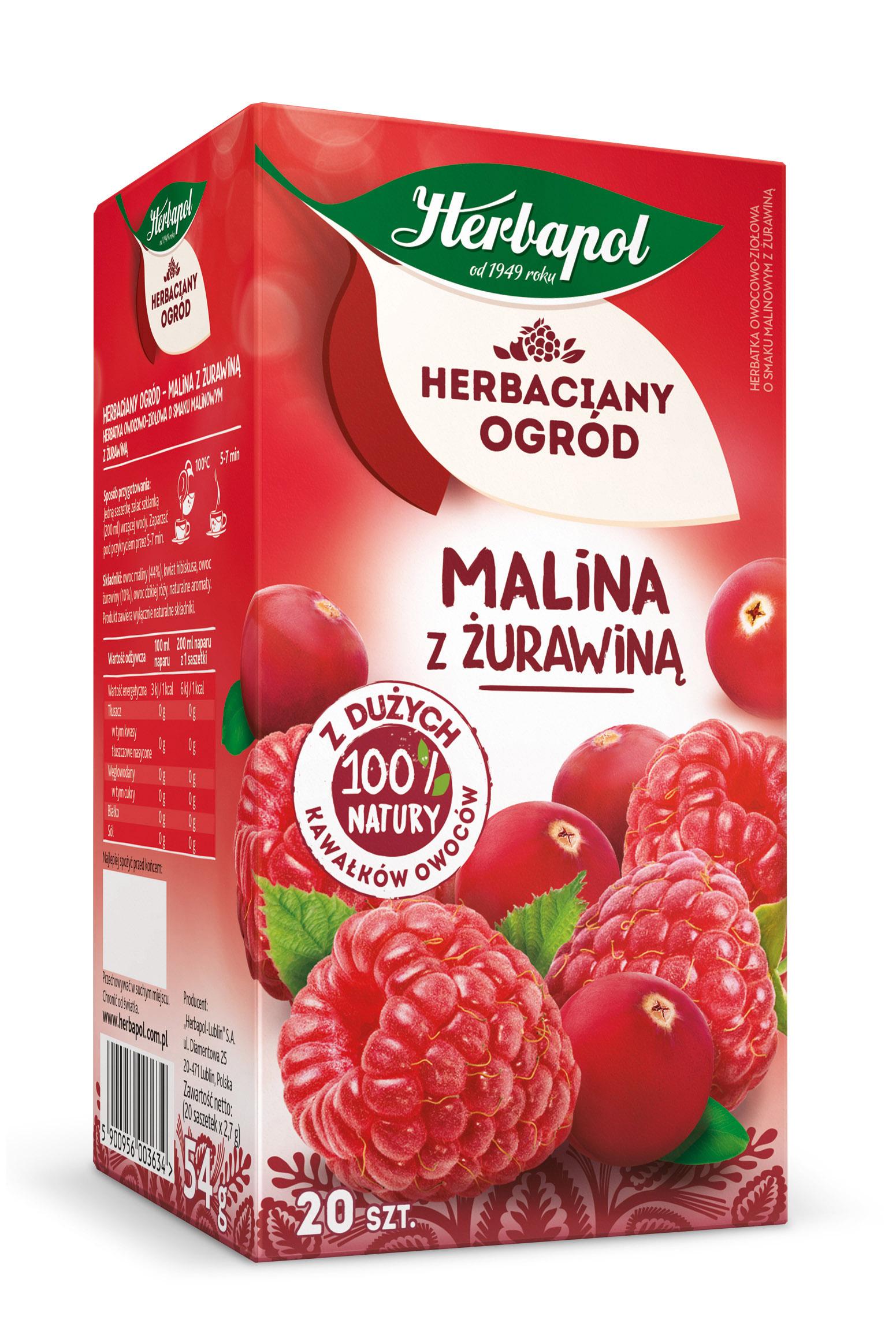 Herbatka owocowo-ziołowa Malina z żurawiną Herbaciany Ogród