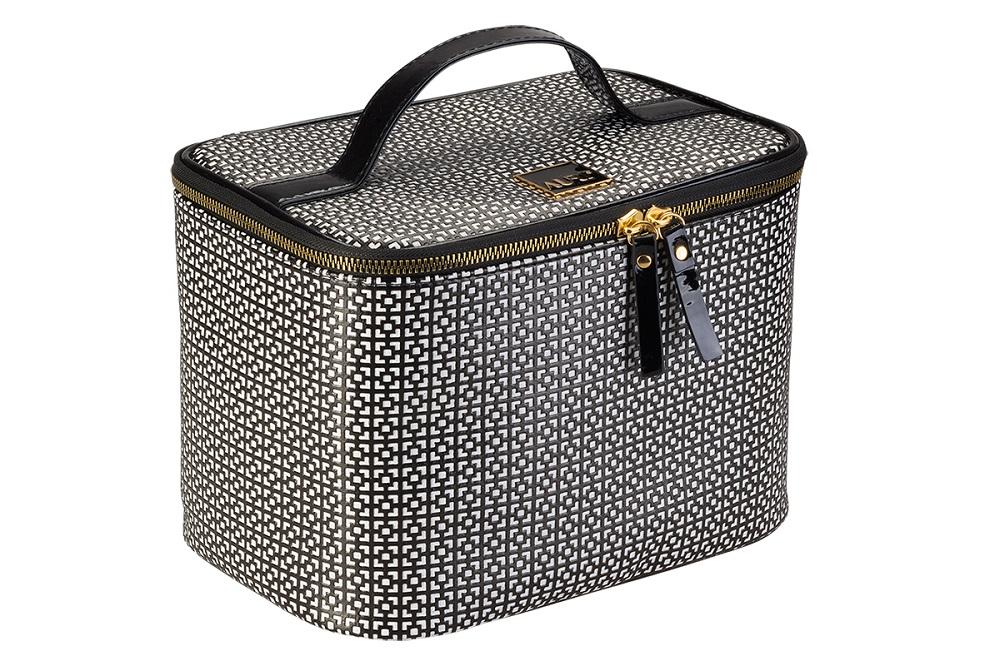 Simple Black & White kuferek kosmetyczny wysoki