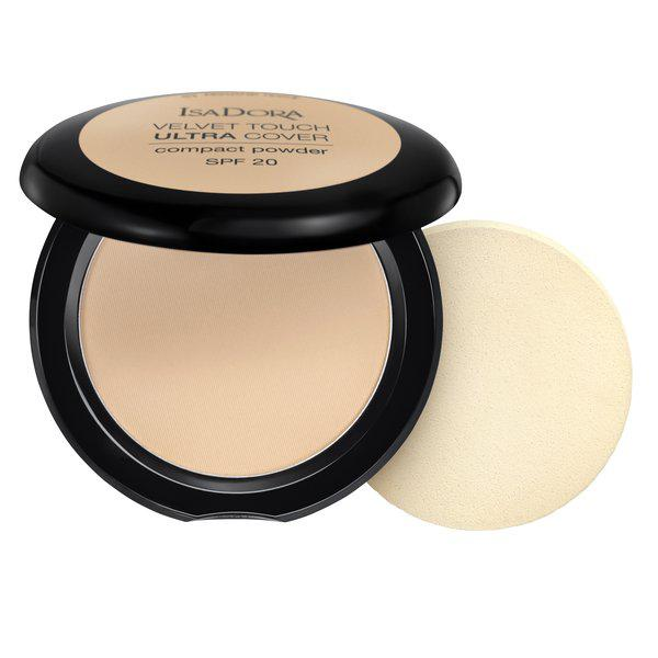 ISADORA_Velvet Touch Ultra Cover Compact Powder SPF20 puder prasowany 61 Neutral Ivory