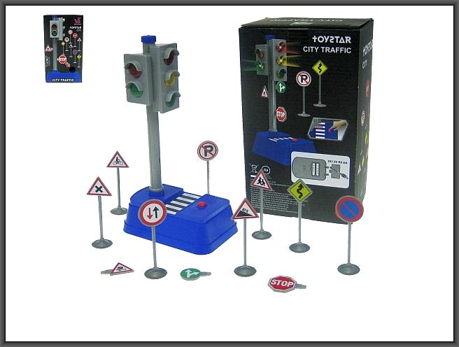 Sygnalizator świetlny 23cm dwustronny i znaki