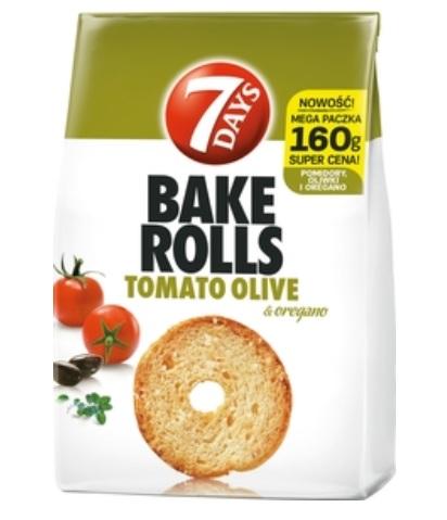 Bake Rolls Chrupki chlebowe o smaku pomidora, oliwki i oregano